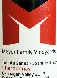 Meyer Family Vineyards Chardonnay Tribute Series Joannie Rochette Old Main Road Vineyard