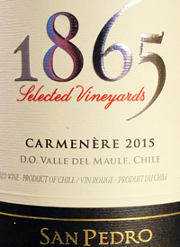 San Pedro 1865 Selected Vineyards Carmeneretext