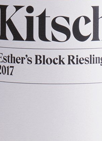 Kitsch Esther's Block Riesling