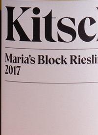 Kitsch Maria's Block Rieslingtext