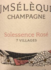 J-M Sélèque Champagne Solessence Rosétext