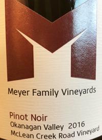 Meyer Family Vineyards Pinot Noir McLean Creek Road Vineyard