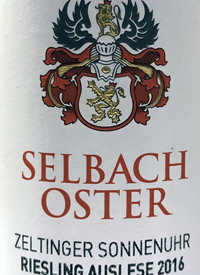 Selbach-Oster Zeltinger Sonnenuhr Riesling Auslesetext