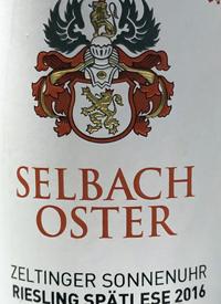 Selbach-Oster Zeltinger Sonnenuhr Riesling Spatlesetext
