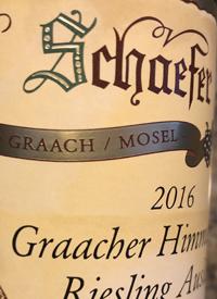 Willi Schaefer Graacher Himmelreich Riesling Auslesetext