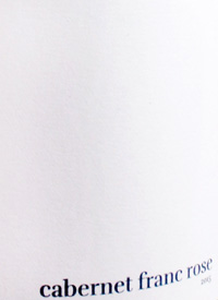 Lock and Worth Cabernet Franc Rosé White Labeltext