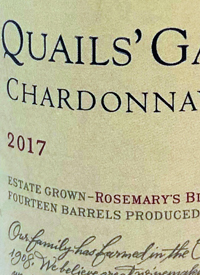 Quails' Gate Chardonnay Rosemary's Blocktext