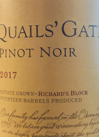 Quails' Gate Pinot Noir Richard's Blocktext