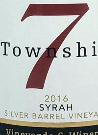 Township 7 Syrah Silver Barrel Vineyardtext