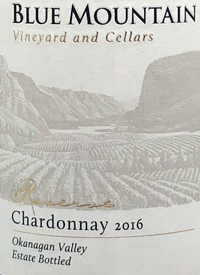 Blue Mountain Reserve Chardonnay