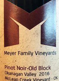 Meyer Family Vineyards Pinot Noir Old Block McLean Creek Vineyardtext