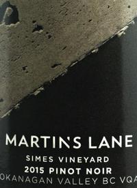 Martin's Lane Simes Vineyard Pinot Noirtext