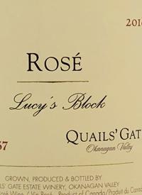 Quails' Gate Rosé Lucy's Blocktext