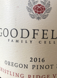 Goodfellow Family Cellars Whistling Ridge Vineyard Pinot Noir