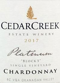CedarCreek Platinum Block 5 Single Vineyard Chardonnaytext
