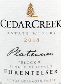 CedarCreek Platinum Block 9 Single Vineyard Ehrenfelsertext