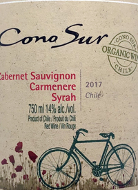 Cono Sur Organic Cabernet Sauvignon Carmenère Syrahtext
