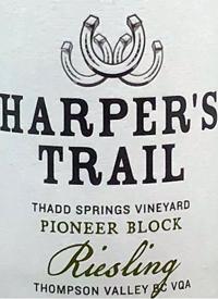 Harper's Trail Riesling Thad Springs Vineyard Pioneer Blocktext