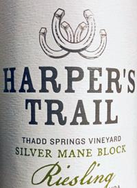 Harper's Trail Riesling Thad Springs Vineyard Silver Mane Blocktext