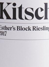 Kitsch Esther's Block Rieslingtext