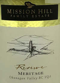 Mission Hill Reserve Meritage Whitetext