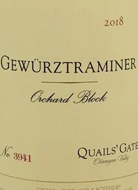 Quails' Gate Gewürztraminer Orchard Blocktext