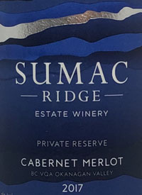 Sumac Ridge Cabernet Merlot Private Reservetext