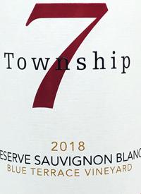 Township 7 Reserve Sauvignon Blanc Blue Terrace Vineyardtext