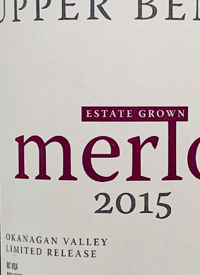 Upper Bench Merlot Limited Release Estate Grown