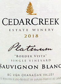 CedarCreek Platinum Border Vista Sauvignon Blanctext