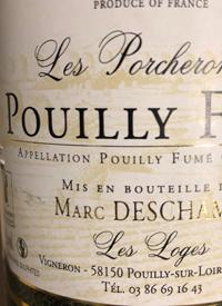 Marc Deschamps Les Porcheronnes Pouilly Fumétext
