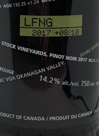 Laughing Stock Vineyards Pinot Noir +08/10