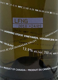 Laughing Stock Vineyards Viognier +10/10text