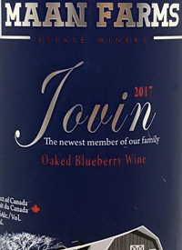 Maan Farms Jovin Oaked Blueberry Winetext