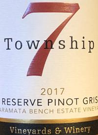 Township 7 Reserve Pinot Gris Naramata Bench Estate Vineyardtext