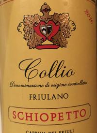 Schiopetto Collio Friulanotext