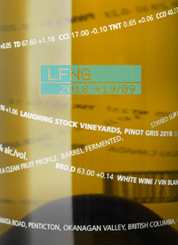 Laughing Stock Vineyards Pinot Gris +19/09text