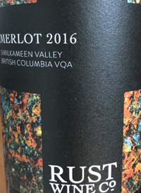 Rust Wine Co. Similkameen Valley Merlottext