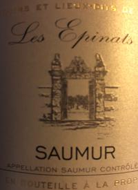 Cave de Saumur Lieu Dit Les Epinatstext