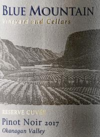 Blue Mountain Reserve Cuvée Pinot Noirtext