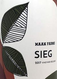 Maan Farms Sieg Vineyard Releasetext