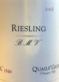 Quails' Gate Riesling B.M.V.text