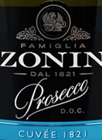 Zonin Prosecco Cuvee 1821text