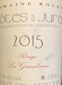 Domaine Rolet Côtes du Jura Rouge Les Grandvauxtext