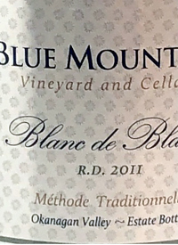Blue Mountain Blanc de Blancs R.D. Méthode Traditionelle