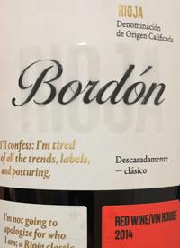 Rioja Bordón Crianzatext