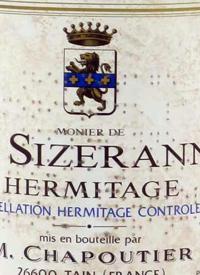 M. Chapoutier Hermitage Monier de la Sizeranne Rougetext