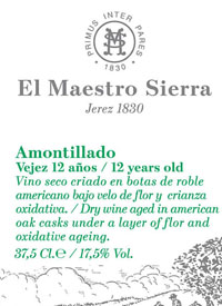El Maestro Sierra Amontillado 12 Years Old