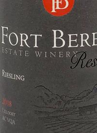 Fort Berens Reserve Rieslingtext