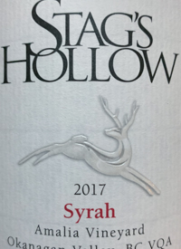 Stag's Hollow Syrah Amalia Vineyardtext